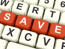 Save Computer Keys As Symbol For Discounts Or Promotion royalty free stock photos