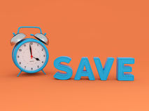 Save concept - 3D Rendering Image Stock Photography