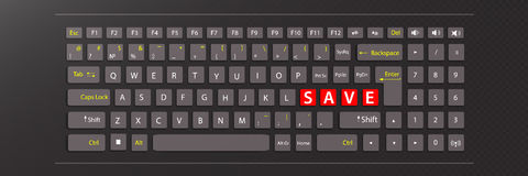 Save concept. illustration keyboard Royalty Free Stock Photography