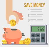 Save concept poster. Royalty Free Stock Photo