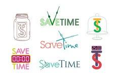Save czasu zegaru wektor Zdjęcie Stock
