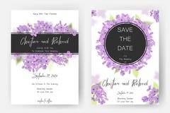 Save daktylową kartę, ślubnego zaproszenie, kartka z pozdrowieniami z pięknymi kwiatami i listy, Zdjęcia Stock