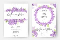 Save daktylową kartę, ślubnego zaproszenie, kartka z pozdrowieniami z pięknymi kwiatami i listy, Zdjęcie Stock