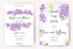 Save daktylową kartę, ślubnego zaproszenie, kartka z pozdrowieniami z pięknymi kwiatami i listy, Zdjęcia Royalty Free