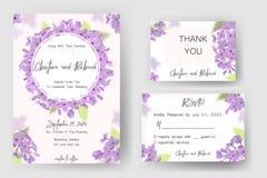 Save daktylową kartę, ślubnego zaproszenie, kartka z pozdrowieniami z pięknymi kwiatami i listy, Fotografia Royalty Free