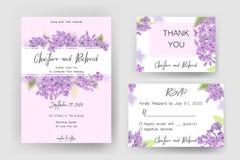Save daktylową kartę, ślubnego zaproszenie, kartka z pozdrowieniami z pięknymi kwiatami i listy, Zdjęcie Royalty Free