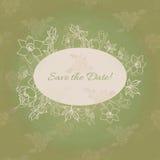 Save daktylową kartę Zdjęcie Royalty Free