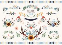 Save daktylową kwiecistą kolekcję zdjęcia royalty free