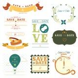 Save daktylową etykietkę Obraz Stock