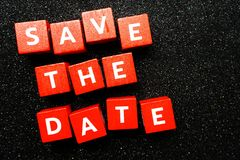 Save the Date alphabet letter