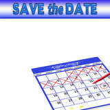 Save the Date - Background - Calendar Royalty Free Stock Images