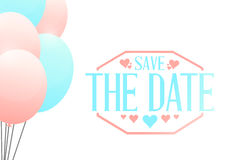 Save the date balloons sign illustration Stock Photo