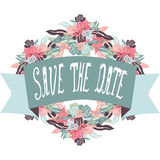 Save the date banner Royalty Free Stock Photo