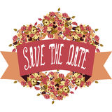Save the date banner Royalty Free Stock Images