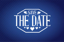 save the date blue texture background sign Royalty Free Stock Image