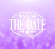 Save the date bokeh background sign Royalty Free Stock Photos