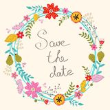 Save the date card royalty free illustration