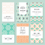 Save The Date card collection Stock Image