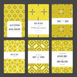 Save The Date card collection Stock Photos