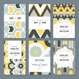 Save The Date card collection Royalty Free Stock Photography