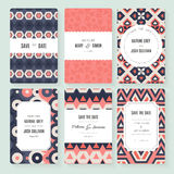 Save The Date card collection Royalty Free Stock Images