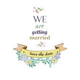 Save The Date card Royalty Free Stock Image