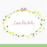 Save the date card Stock Image