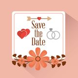 Save the date card greeting invitation. Vector illustration Royalty Free Stock Photos