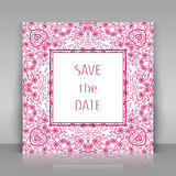 Save the date card. Stock Image