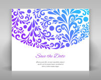 Save the date card. Royalty Free Stock Photography