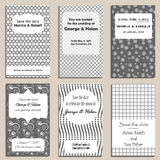 Save the date card template. Set of save the date cards template Stock Photos