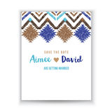 Save the date card with tribal ornaments Stock Images
