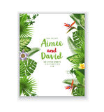 Save the date card in tropical style Stock Image