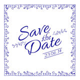 Save the date card. Vector illustration. Royalty Free Stock Photos