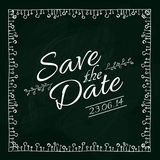 Save the date card. Vector illustration. Stock Photography