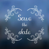 Save the date card Royalty Free Stock Images