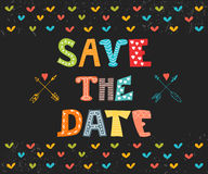 Save the date card. Wedding invitation card with cute background Stock Photo