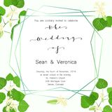 Save the date card, wedding invitation, greeting card with beautiful flowers, green leaves of linden and letters. The wedding of Royalty Free Stock Images