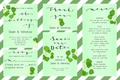 Save the date card, wedding invitation, greeting card with beautiful flowers, green leaves of linden and letters Royalty Free Stock Images
