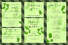 Save the date card, wedding invitation, greeting card with beautiful flowers, green leaves of linden and letters Royalty Free Stock Photo