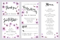 Save the date card, wedding invitation, greeting card with beautiful flowers and letters. Save the date card, wedding invitation, greeting card with beautiful Stock Photography