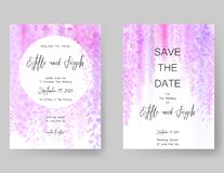 Save the date card, wedding invitation, greeting card with beautiful flowers and letters. Save the date card, wedding invitation, greeting card with beautiful Stock Images