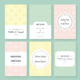 Save the date cards. Collection. Template with sample text royalty free illustration