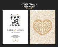 Save the date cards Royalty Free Stock Photo