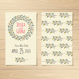 Save the Date Cards. Save the Date Wedding Cards. Vector illustration Royalty Free Stock Photography