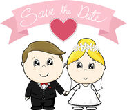 Save the date cartoon wedding royalty free illustration