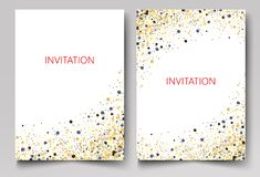 Save the Date Collection with Confetti Design. Eps10 Royalty Free Stock Photos