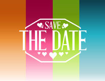 Save the date color lines card illustration Royalty Free Stock Photography