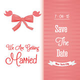 Save the date colorful card Royalty Free Stock Image