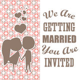 Save the date colorful card Stock Image
